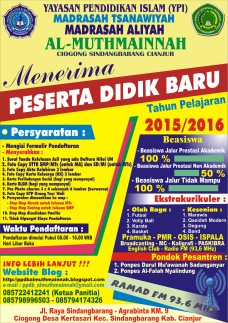 Pamplet PPDB Al Muthmainnah